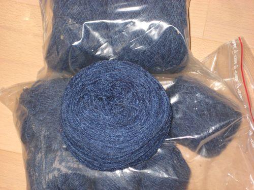 P uld silke jeansblå 550 g  200 kr
